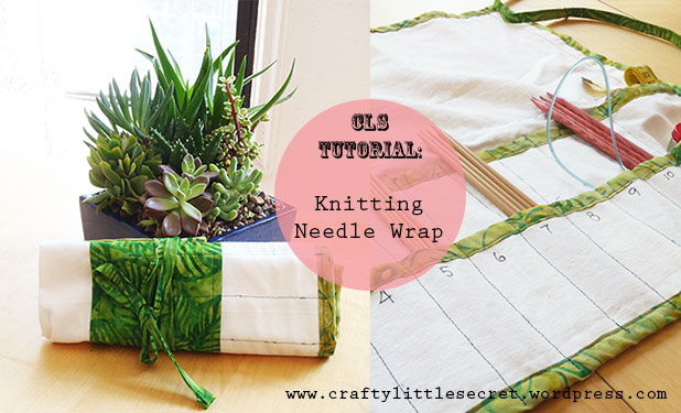 how to sew a knitting needle wrap