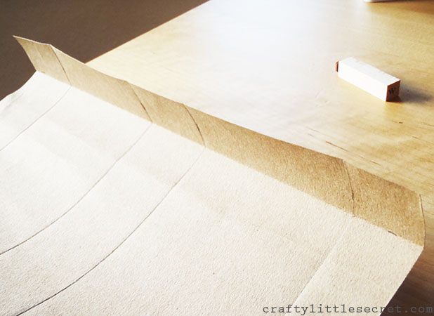 Brown paper gift bag tutorial