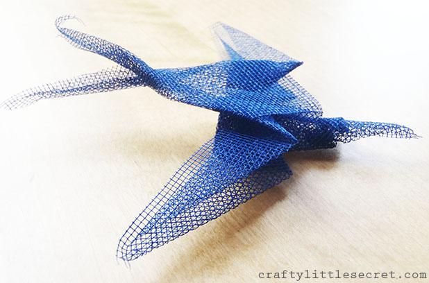 Mesh origami bird