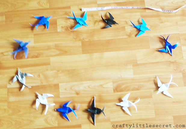 Origami swallow mobile how to