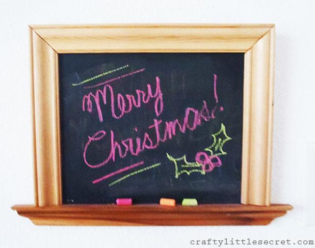 Handmade chalkboard
