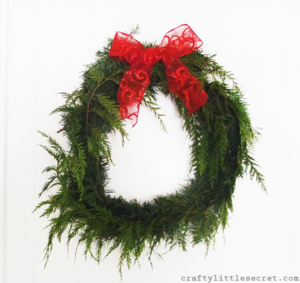Tree trimmings wreath