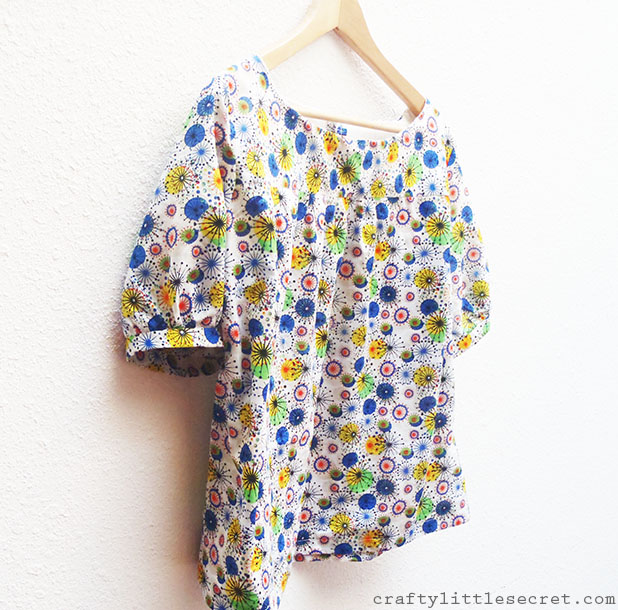 Mathilde blouse gathered from