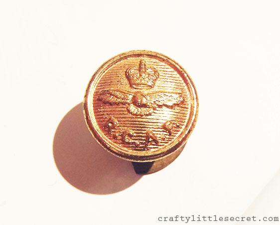 RCAF vintage button