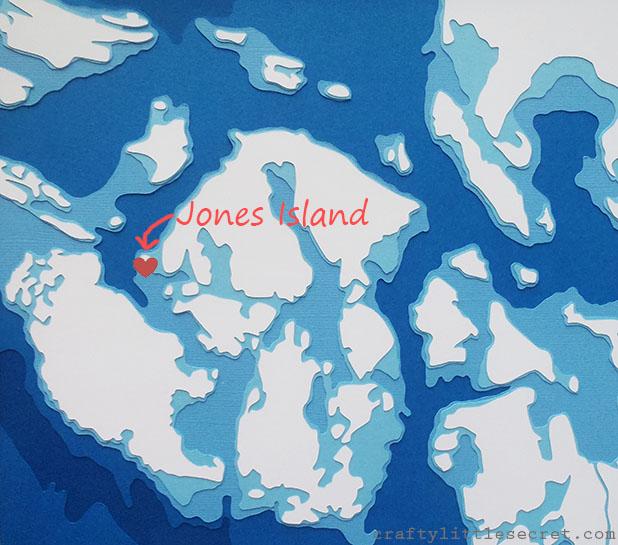 Map Art San Juan Islands