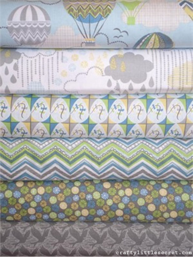 blown away fabric bundle