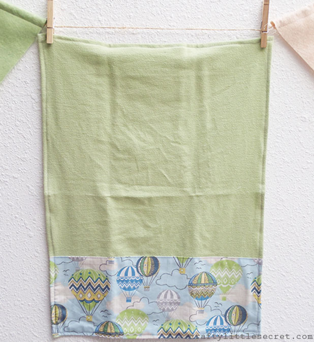 hot air balloon DIY burp cloth