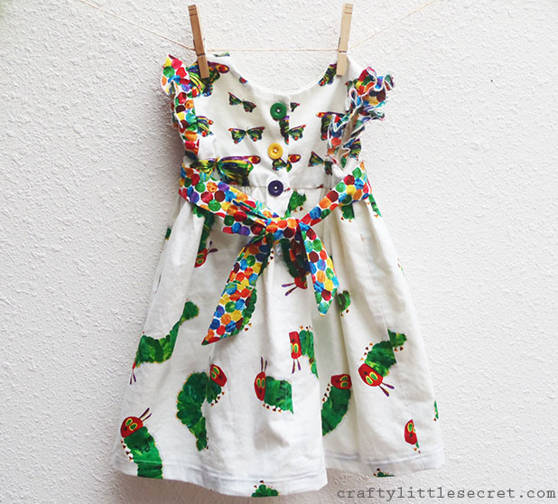 Very Hungry Caterpillar dress back