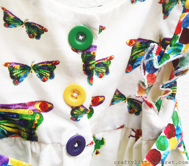 Very Hungry Caterpillar dress button