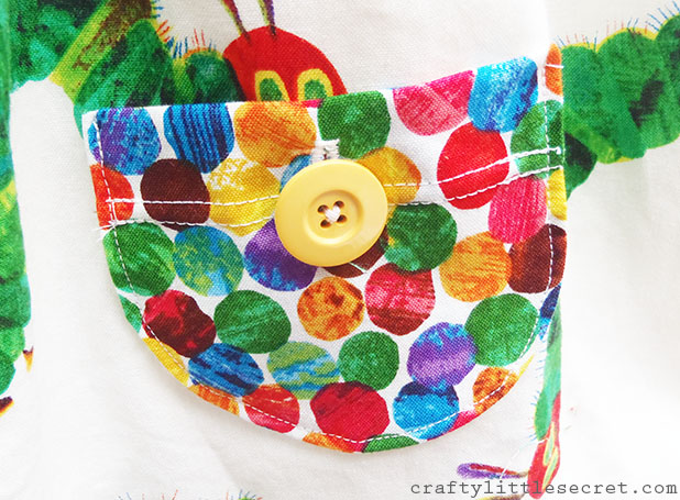 Very Hungry Caterpillar dress pockets