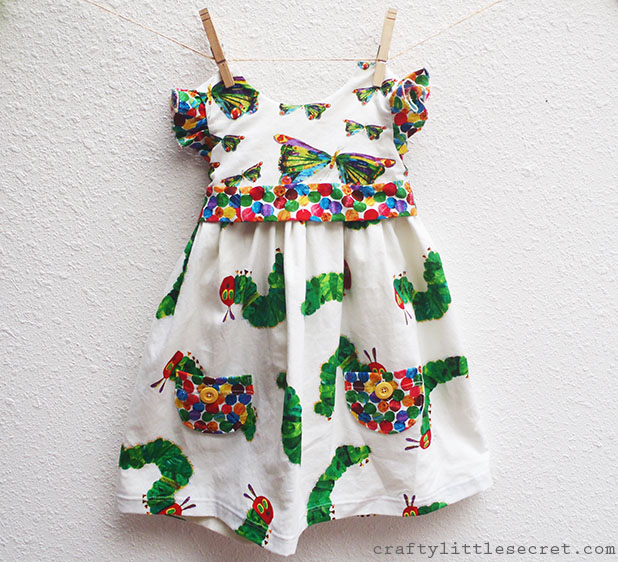 Very Hungry Caterpillar Geranium dress