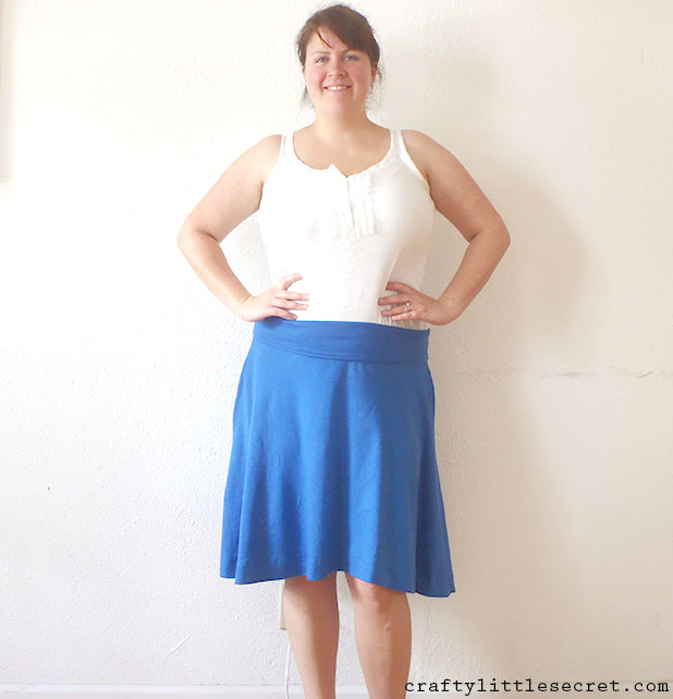 Crafty Little Secret - Blue Afternoon Skirt craftylittlesecret.com