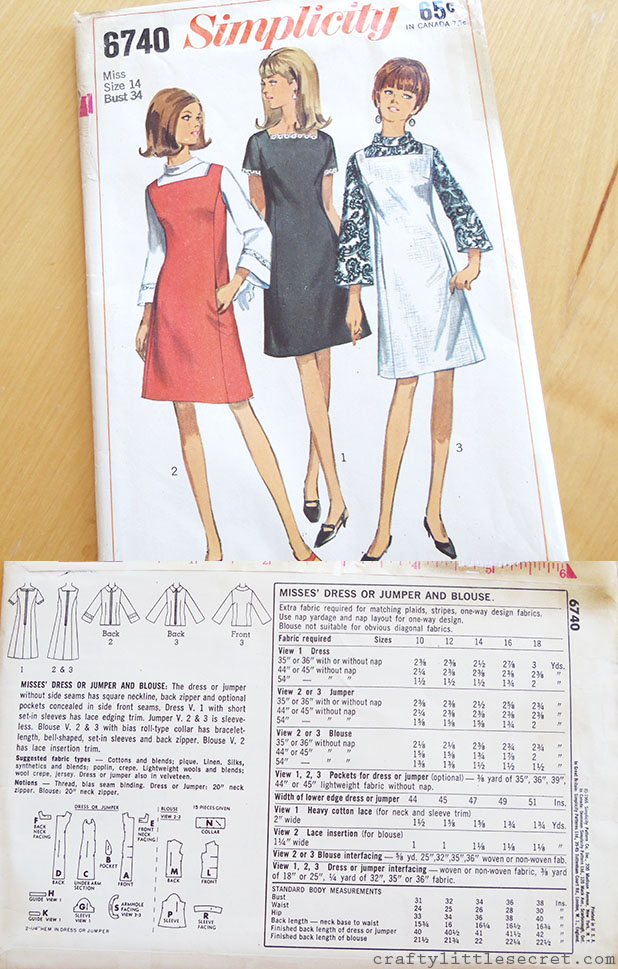 Crafty Little Secret - Vintage Sewing Pattern Giveaway craftylittlesecret.com
