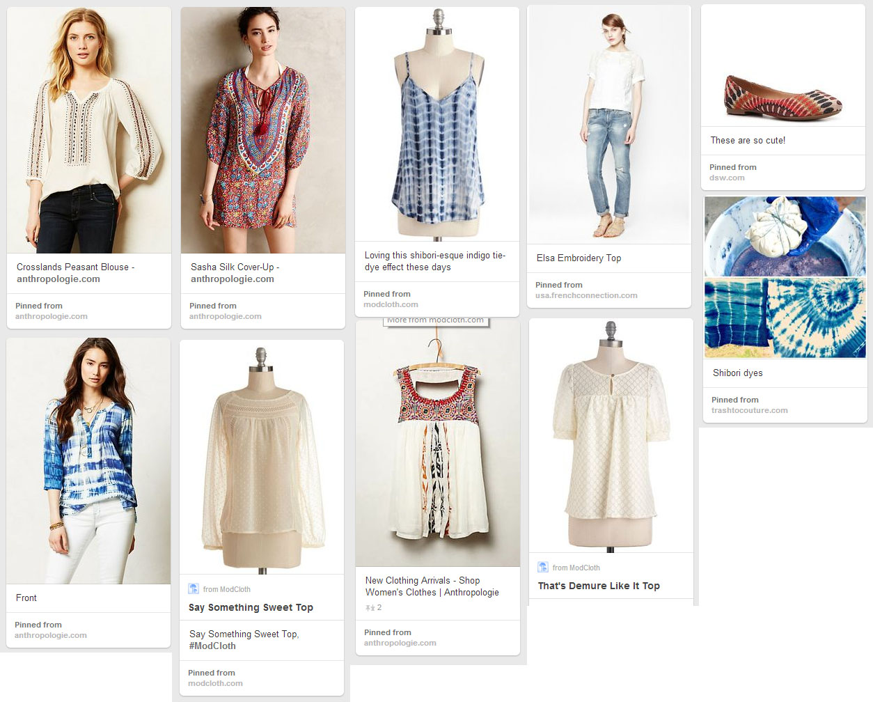 Bohemian Blouse Sewing Patterns