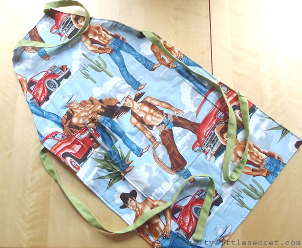 Crafty Little Secret - Hunky Pinup Apron - www.craftylittlesecret.com