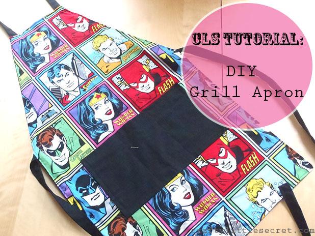 Crafty Little Secret Tutorial: DIY Grill Apron - www.craftylittlesecret.com