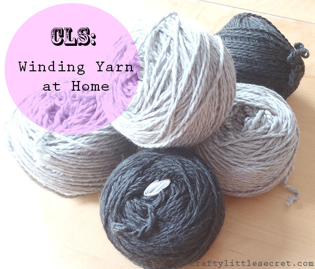 Winding yarn at home