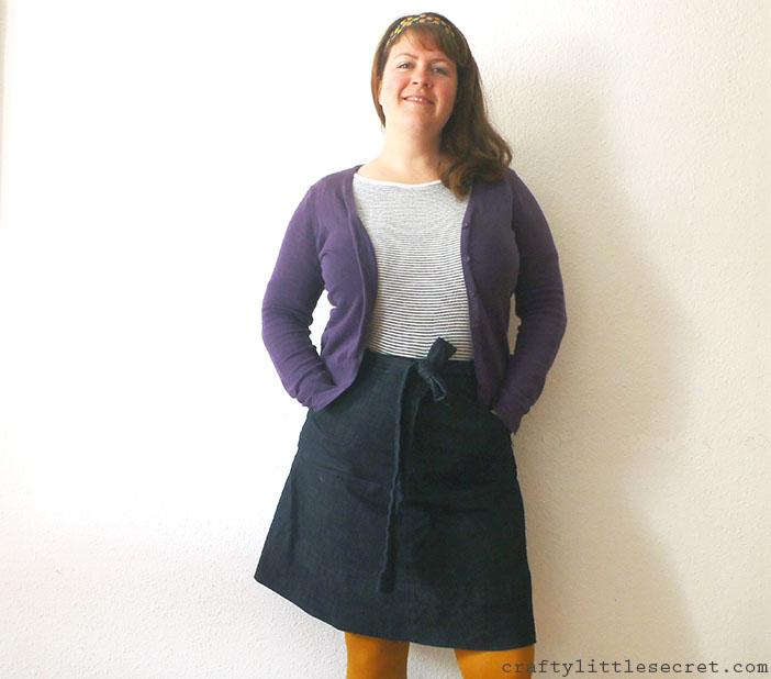 Crafty Little Secret - Denim Miette Skirt, a Tilly and the Buttons pattern - www.craftylittlesecret.com