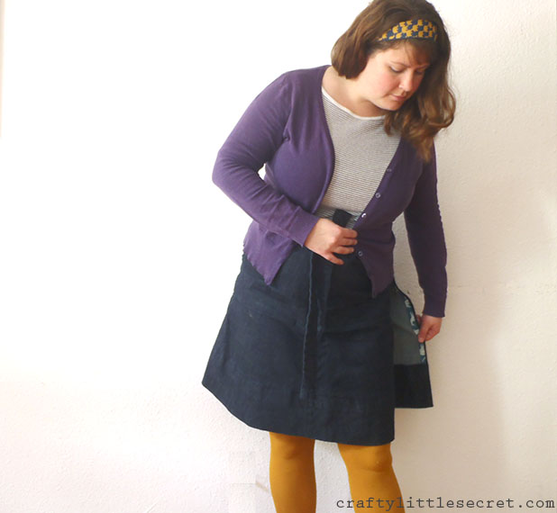 Crafty Little Secret - Denim Miette Skirt - www.craftylittlesecret.com