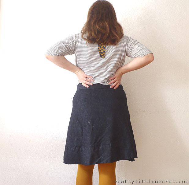 Crafty Little Secret - Denim Miette Skirt - www.craftylittlesecret.com