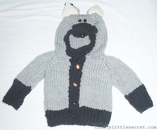 Crafty Little Secret - Willy the Wily Wolf sweater - www.craftylittlesecret.com